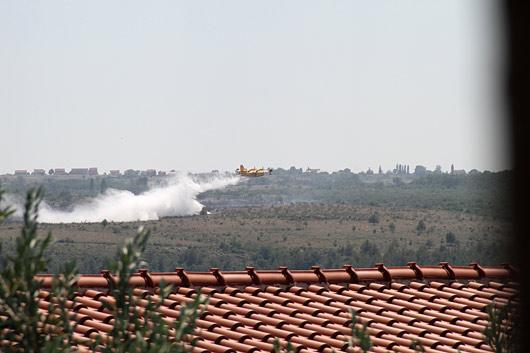 gašenje požara v Posedarjah