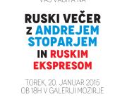 ruski večer z Andrejem Stoparjem in Ruskim ekspresom