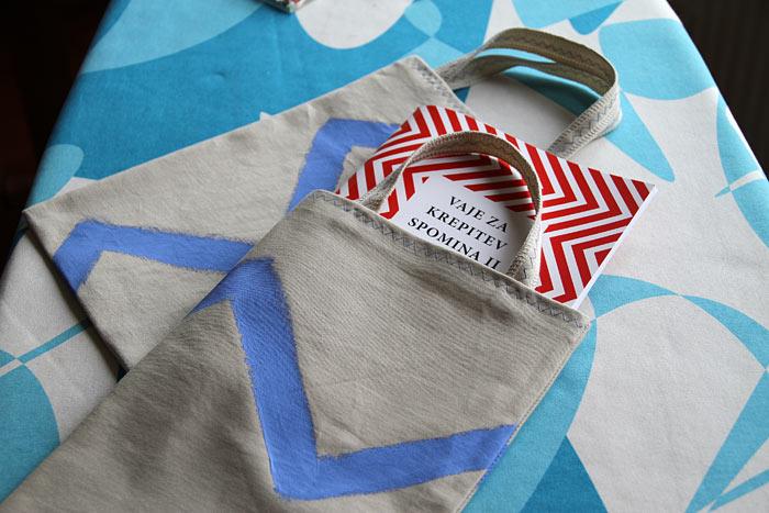 sešij darilno vrečko iz blaga